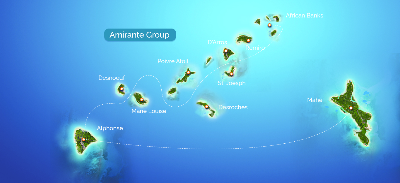 Amirantes Island Group Seychelles Outer Islands Blue